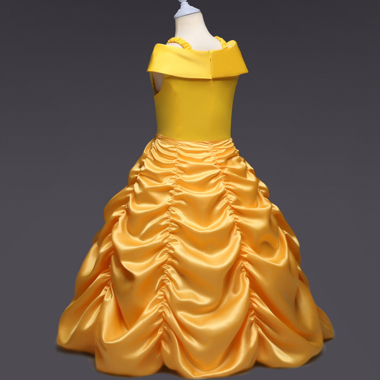 Christmas Hot Selling Children Shirt Children Performance Beauty And The Beast Cosplay Cartoon Costume Bell Princess Dress