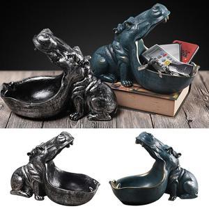 Resin Hippo Figurines Keychain