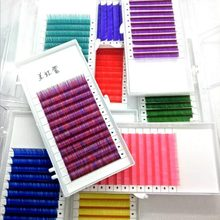10mm Individuels Fiber Dense Couleur Greffé Naturel Faux Cils compact Cils Cluster Cils Extension Maquillage(China)