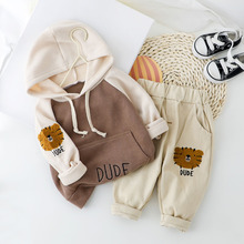 Kid Boy Girl Casual Hooded Clothes For Boy Girl Clothing Set New Baby Boys Set Spring Autumn Kid Clothes 1 2 3 4 Year cheap Kabeier Sets Pullover LiMing COTTON Unisex Full REGULAR Fits true to size take your normal size Coat Letter Children Spring Fall