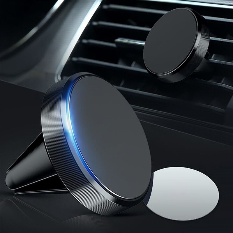 Metal Magnetic Car Phone Holder Stand For Xiaomi Mi 9t Redmi Note 8 Pro Mini Metal Air Vent Clip Mount Magnet Holder For Iphone