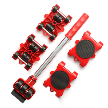 Dropshipping Furniture Mover Set Furniture Mover Tool Transport Lifter Heavy Stuffs Moving Wheel Roller Bar Hand Tools 5 Pcs Set