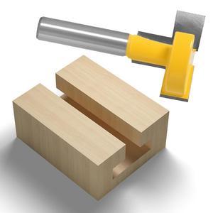 """Image 5 - Enrutador de ranuras en T y t track de alta calidad, caña para trabajar la madera, cortador de cinceles de 8 """"y 8"""", 1 Uds."""