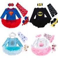 Vestido de princesa para niña, Elsa, anna, Superman, Cosplay, Disfraces para bebés y conjunto para bebés, conjunto, vestido, ropa Infantil