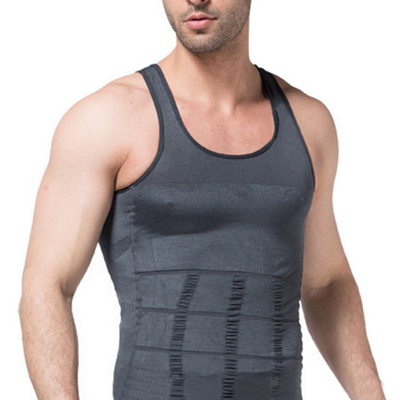 Men's Slimming Body Building Shaper 2019 New Mens Waist Cincher Corset Sports Vest Solid Color Sleeveless Fitness Underwear