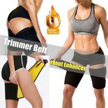 Black Body Shaper Slimming Belt Burn Cellulite Wraps Legs Lose Thigh Slimmer Bod