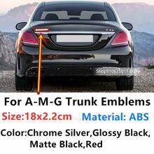 Emblemas do carro logotipo estilo acessórios decalques para mercedes amg glc gls glc gls gt a c e g s classe w177 w210 w211 etiqueta do crachá 3d