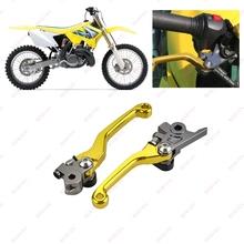 Dla Suzuki RMZ250 RMZ450 RMZ 250 450 rmz rmz250 rmz450 RMz250 RMz450 2005-2018 motocykl CNC hamulca do roweru terenowego dźwignia sprzęgła tanie tanio CN (pochodzenie) 5 8cm 16 5cm High quality CNC aluminum alloy 320g