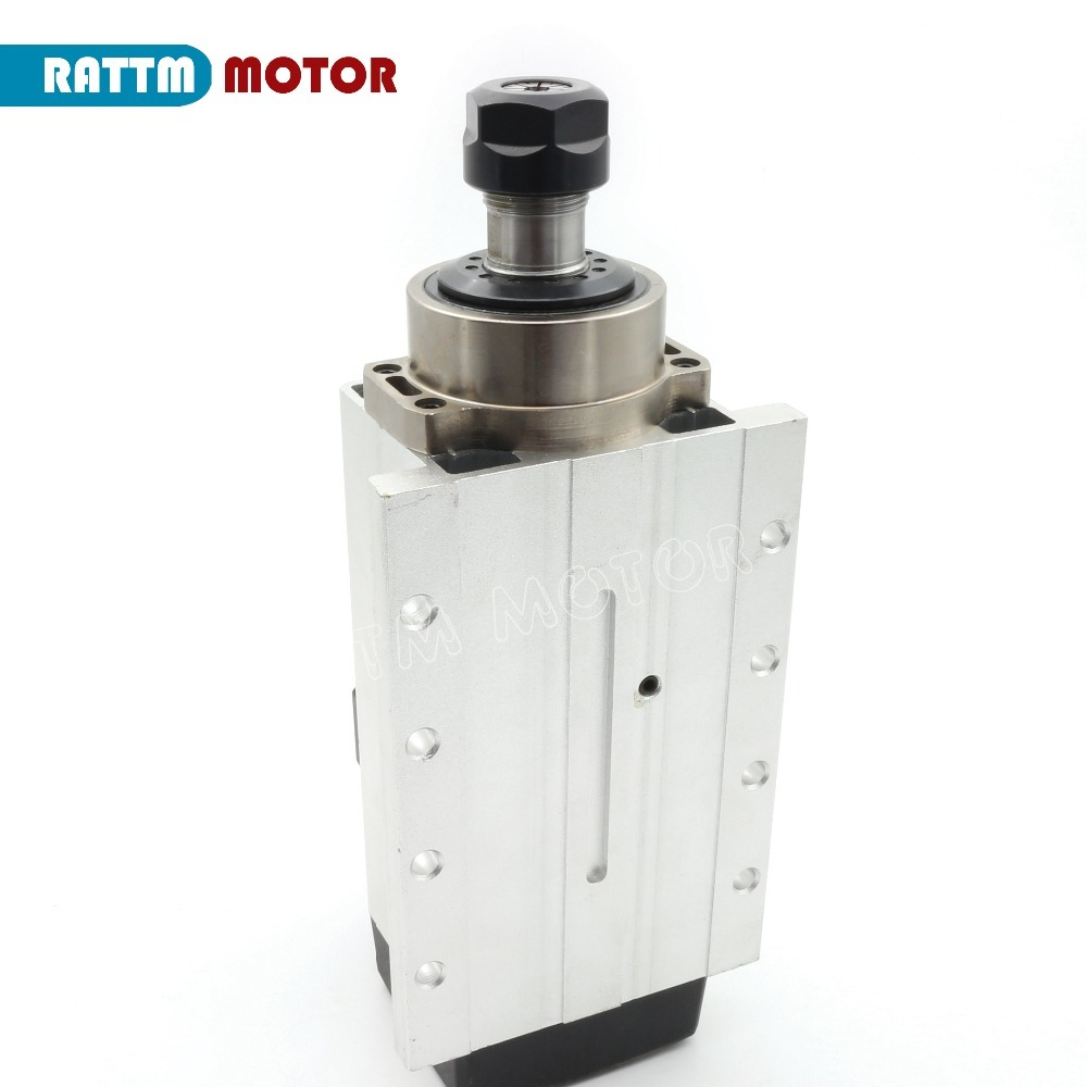 Image 5 - Square 2.2kw Quanlity Air cooled spindle motor ER20 runout off 0.01mm,220V,4 Ceramic bearing for CNC Router Engraving MillingMachine Tool Spindle   -