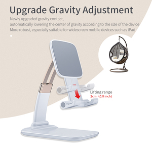 Image 3 - Essager Foldable Desk Mobile Phone Holder Stand For iPhone iPad Pro Tablet Flexible Gravity Table Desktop Cell Smartphone Stand
