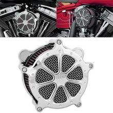 RSD мотоциклетный хромированный воздушный фильтр 7 Venturi для Harley XL Sportster Touring Road Glide 08-16 Dyna Softail Fat Boy