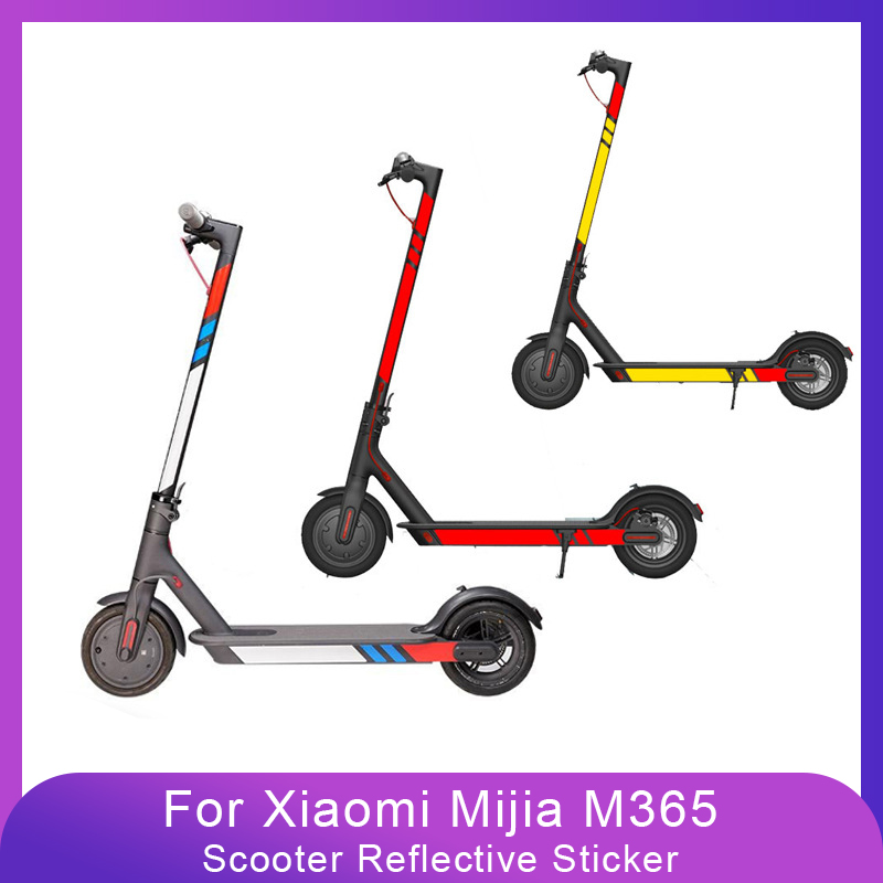 High Quality Reflective Styling <font><b>Stickers</b></font> For Xiaomi Mijia M365 Electric <font><b>Scooter</b></font> Reflective Strip <font><b>Sticker</b></font> Accessories 20 Colors image