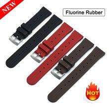 Senior Fluor Gummi Waffel Strap Für Seiko SRP777J1 Quick Release Bar Tauchen Uhr Band Neue Design Wasserdicht Armband 20 22mm