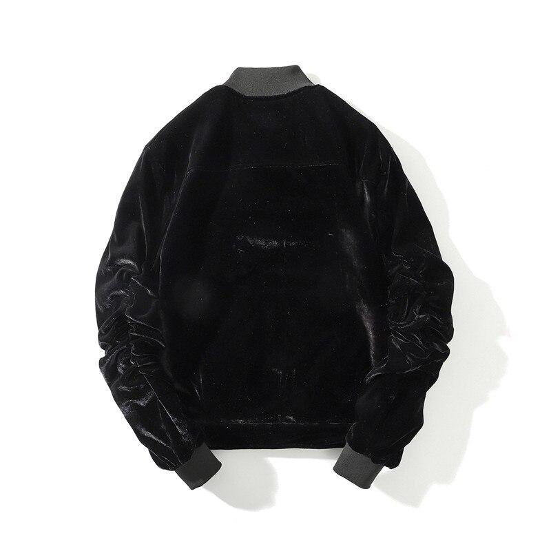 Automne hiver hommes épais chaud en vrac velours flanelle bomber veste Streetwear haute qualité homme surdimensionné décontracté manteaux pour vêtements de dessus - 4