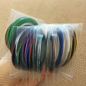 Image 5 - 30Pcs rotoli di bellezza colorati misti strisce decalcomanie punte di lamina linea di nastro adesivi per Nail Art Design fai da te per decorazioni di strumenti per unghie