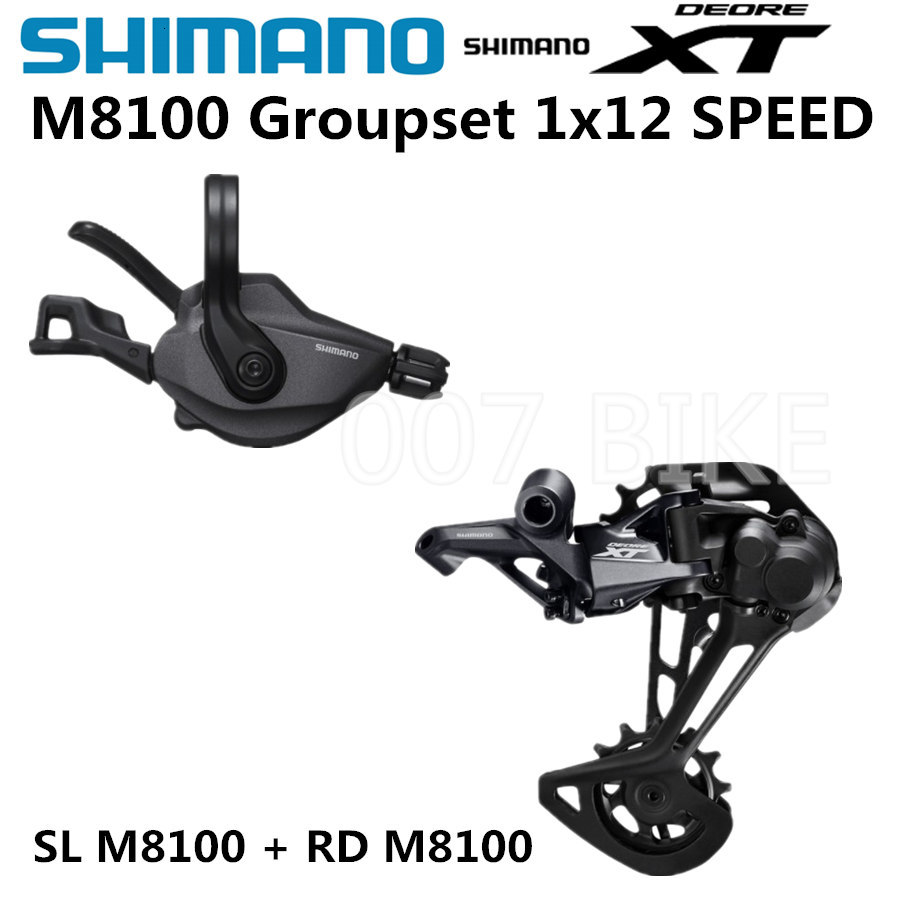 SHIMANO DEORE <font><b>XT</b></font> <font><b>M8100</b></font> Groupset Mountain Bike Groupset 1x12-Speed SL +RD <font><b>M8100</b></font> Rear Derailleur <font><b>m8100</b></font> Shifter Lever image