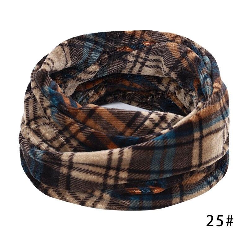 Новинка, осенне-зимний женский шарф с принтом для женщин, модный бархатный тканевый шарф, мягкий удобный женский винтажный шарф - Цвет: 25