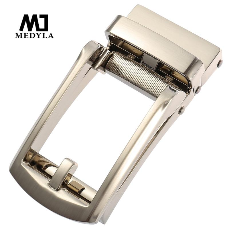MEDYLA Simple Mens Belt Buckle Hard Metal Quick Release Automatic Buckle Inner Diameter 3.3cm Designer Fashion Belt Buckle Men