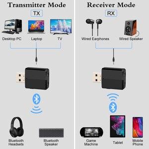 Image 5 - KN330 3 Trong 1 USB Bluetooh 5.0 Âm Thanh Thu Phát 3.5 AUX Jack RCA Stereo Không Dây Bluetooth Adapter Dành Cho Tivi máy Tính Nhạc Trên Ô Tô