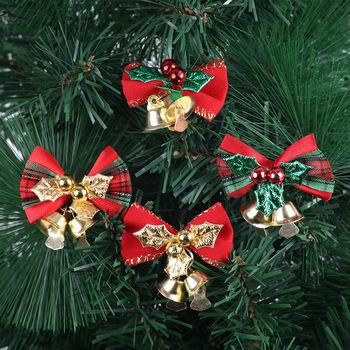 4 typ kokardka na choinkę dzwonki bożonarodzeniowe ozdoby dzwonek do domu ogród łuk dzwonki bożonarodzeniowe dekoracje weselne tanie i dobre opinie CN (pochodzenie)