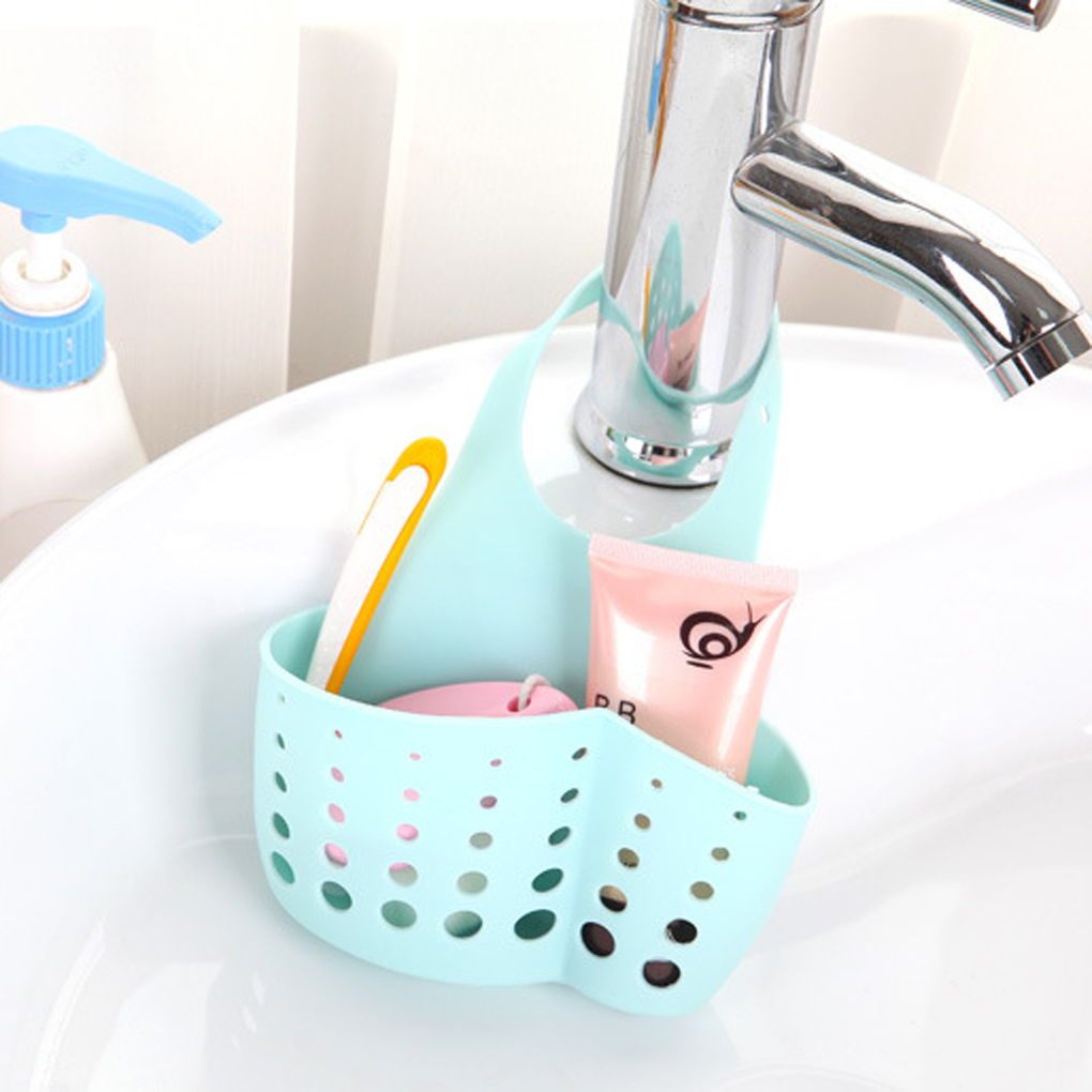 NEW Fashion Sink Shelf Soap Sponge Drain Rack Bathroom Holder Kitchen Storage Suction Cup Organizer Sink Kitchen Accessories