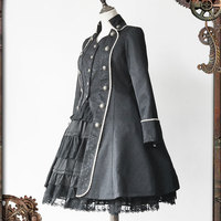 In the Dusk ~ Women's Gothic Quji Lolita Trench Coat by Infanta