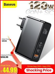 Usb-C-Charger Type-C iPad Macbook iPhone Xiaomi Samsung Fast Baseus 120w PD QC Gan Sic