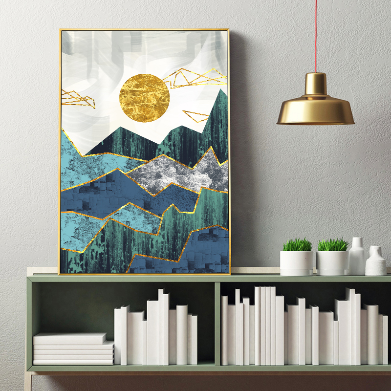 Geometric Mountain Landscape Canvas 3