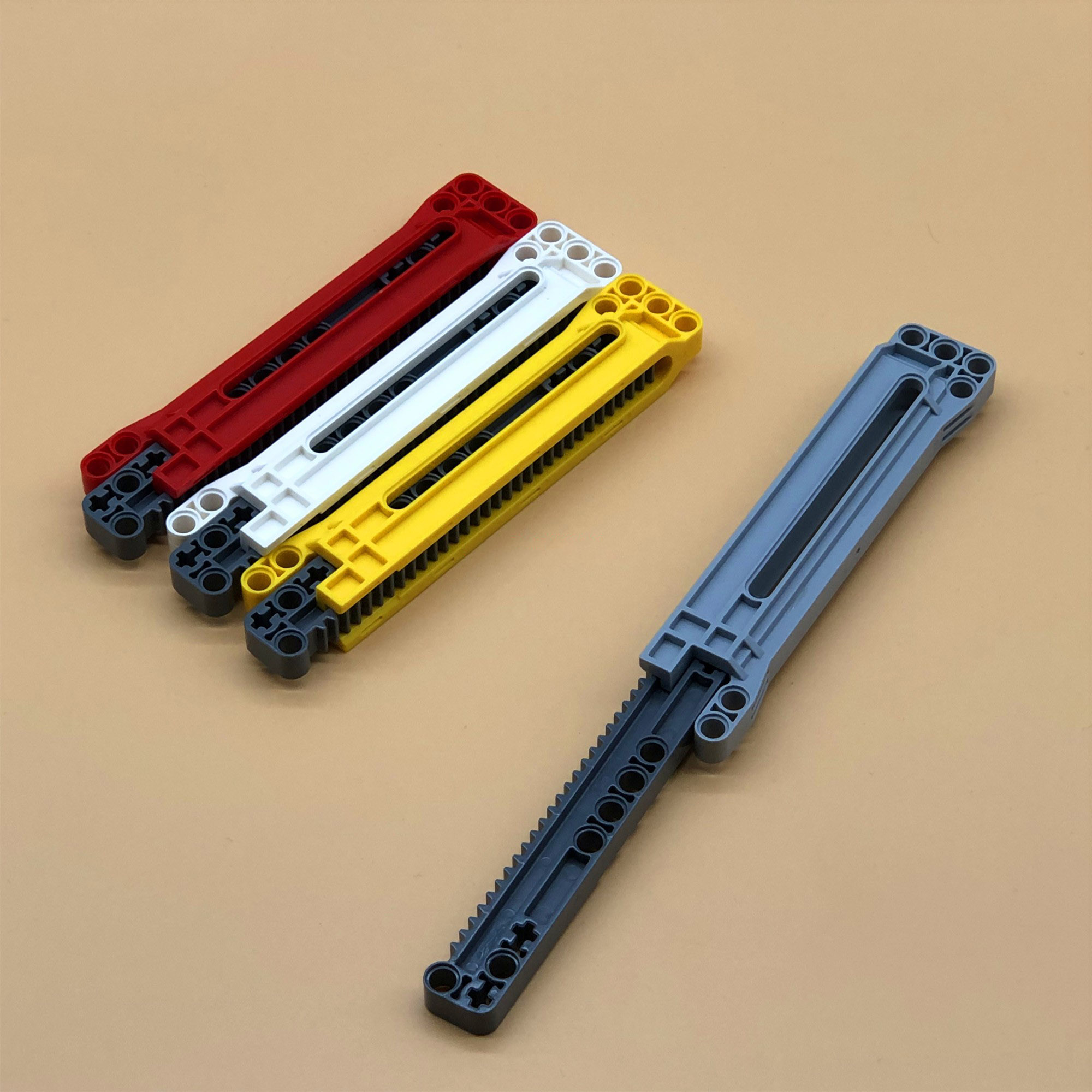 1 Set Compatible with <font><b>LEGOs</b></font> <font><b>Technic</b></font> Parts Gear Rack 1x14x2 with Axle and Pin Holes Housing Combination Bricks Blocks DIY Toys image