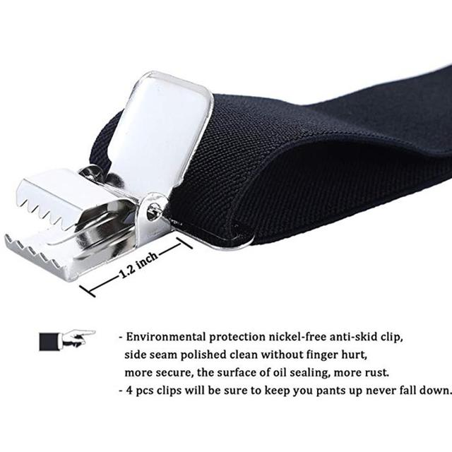 Adjustable Elasticated Adult Suspender Straps Y Shape Clip-on Men's Suspenders Strap Clip-on for Pants Trousers Brace Belt 8