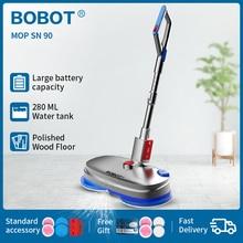 BOBOT SN 90 Bobot ممسحة تنظيف كهربائية لاسلكيّ ممسحة كهربائيّة رذاذ ماء ممسحة كنس وشمع عمل