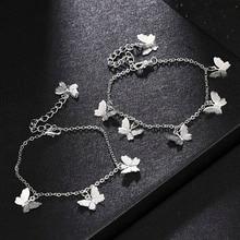 Bohemian Butterfly Star Bracelet & Bangle for Women Simple Gold Silver Color Chian Butterfly Charm Bracelet Fashion Jewelry