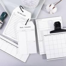 Minkys 50 folhas de negócios diário bloco de notas nota a fazer lista de verificação semanal mensal planejador paperlaria kawaii escola papelaria
