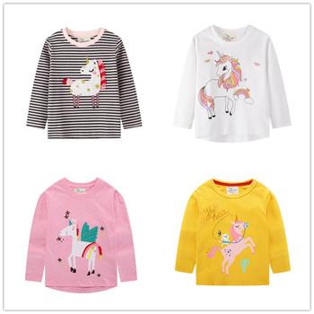 VIDMID Girls bawełniane koszulki z długim rękawem koszulki dziecięce dla dzieci cartoon odzież codzienna koszulki 2-7 lat dzieci koszulki odzież tanie i dobre opinie COTTON Nowość REGULAR O-neck Topy Tees Pełna Pasuje prawda na wymiar weź swój normalny rozmiar Dziewczyny 2t 3t 4t 5t 6t 7t