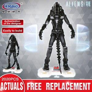 XingBao Alien Movie Series строительные блоки Хищник против инопланетян кирпичи фигурки модель игрушки для детей