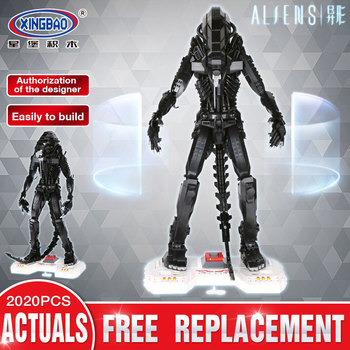 XingBao Alien Movie Series Building Blocks Predator vs Alien Bricks Action Figure Model Toys for Children