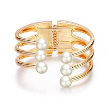 Женский Золотой браслет с шармами anke store многослойный широкий