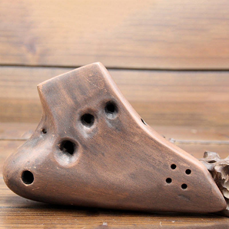 Три трубки Alto C 16 отверстий окарина Копченый ожога Ac тон растительная краска флейта
