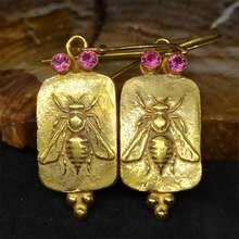 Модные креативные Ретро стерео серьги в виде пчелы темпераментные