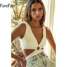 Forefair Knitted Hollow Out Backless Bodysuits Stretchy Casual Solid Off Shoulder White Black Basic Summer Body Tops Streetwear