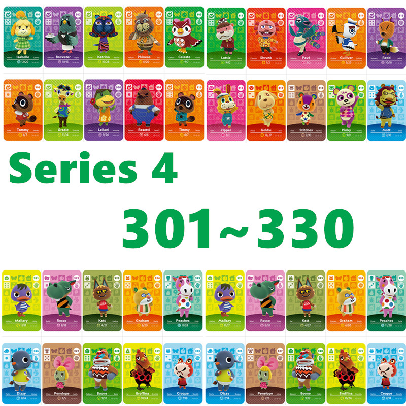 Animal Crossing Card Amiibo Card Work For NS Games Series 4 For Nintend Nfc Switch And Switch Lite (301 To 330)