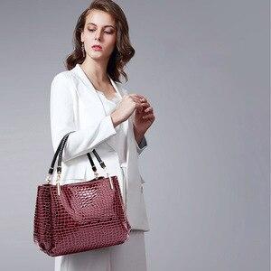 Image 5 - Novo crocodilo couro pu bolsas de luxo bolsas femininas sacos de designer famosa marca feminina sacos de grande capacidade para as mulheres sac