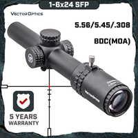 Vector Optics Gen2 Grimlock 1-6x24 BDC (MOA) Ballistic Reticle Rifle Scope Center Dot Illuminated CQB Riflescope .223 AR15 .308