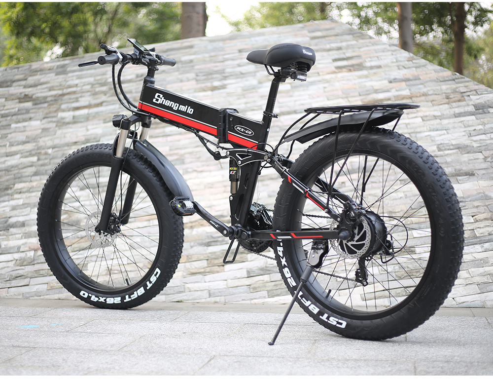 Electric bicycle 1000W Electric Beach Bike 4.0 Fat Tire Electric Bike  48V Mens Mountain Bike Snow E-bike 26inch Bicycle
