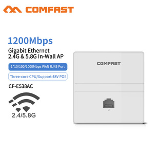 1200Mbps Indoor Wall WIFI Access Point Gigabit 11AC Wifi Router WiFi Repeater 1*10/100/1000Mbps WAN/LAN Port Client+AP