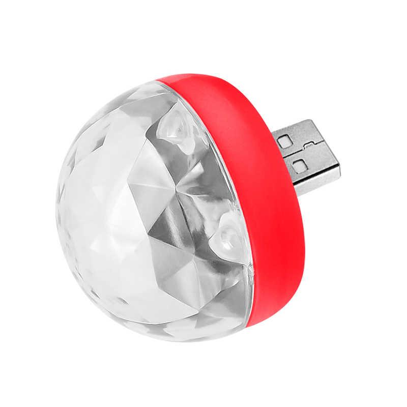 Mini USB Disco LED Party ไฟแบบพกพาคริสตัล Magic Ball สีสัน Effect สำหรับคาราโอเกะปาร์ตี้ Decor
