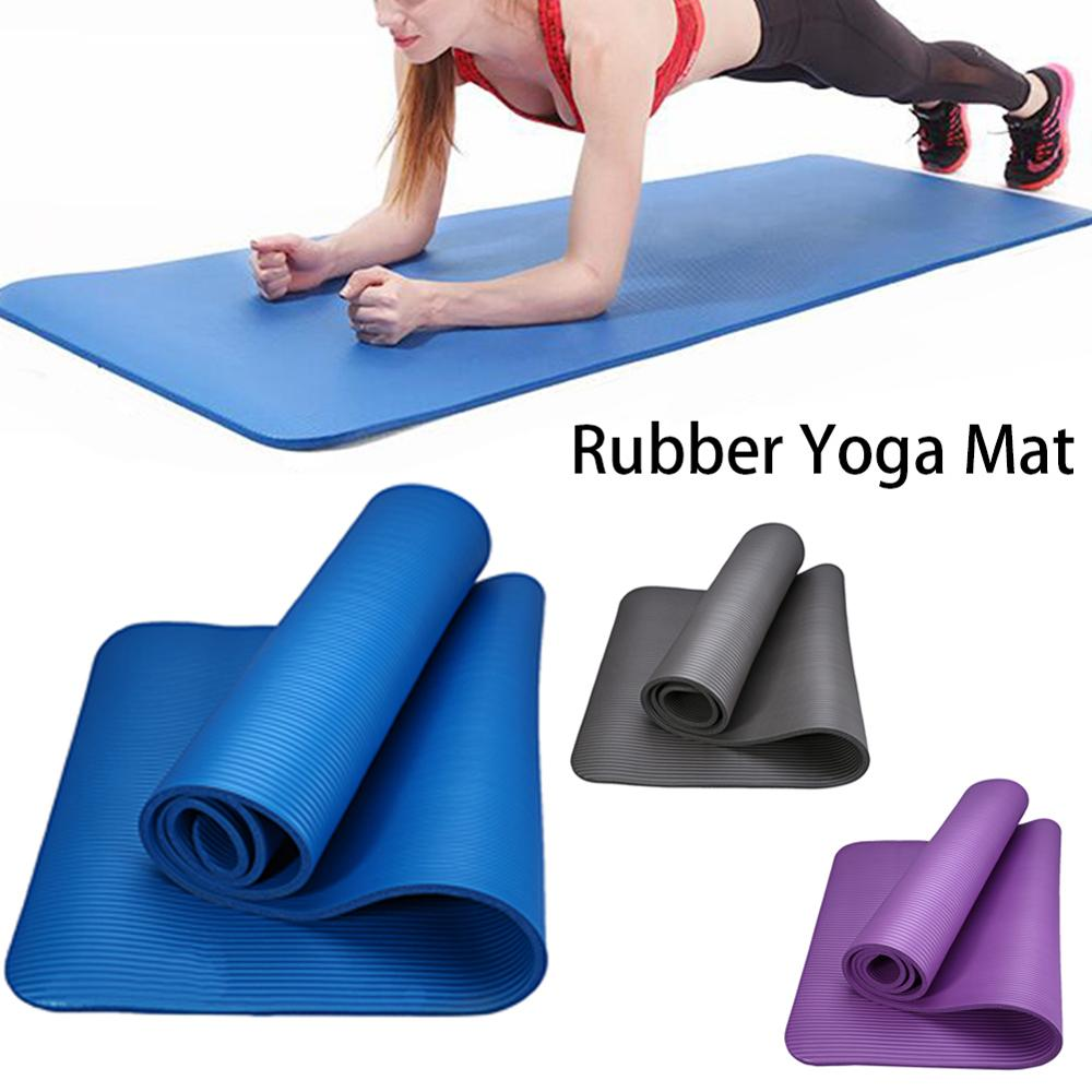 Yoga Rubber Exercise Mat With Strap Pilates Yoga Accessories Non Slip Sports Travel Blanket Cleaner Rug Fitness Gymnastics Pad Yoga Mats Aliexpress