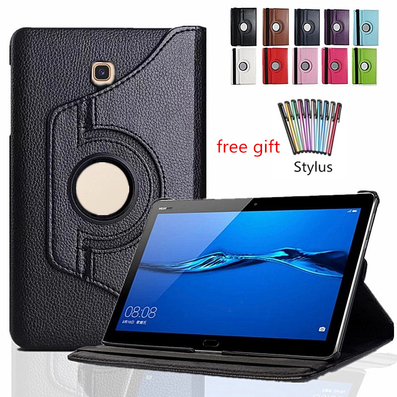 Smart Case For Samsung Galaxy Tab A 10.5 T590 T595 T597 SM-T590 SM-T595 Tablet 360 Degree Rotating Stand Flip Cover Case+Pen