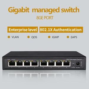 Image 1 - Interruptor gestionado Gigabit de 8 puertos, gestionado con conmutador Ethernet 8 puertos 10/100/1000M VLAN