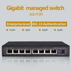 Image 1 - Switch Ethernet géré Gigabit, 8 ports, 10/100/1000M, VLAN, 8 ports gérés